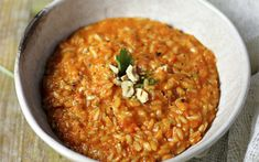 <p>This red pepper risotto is rich, decadent, and creamy, but it contains no cream at all.</p>