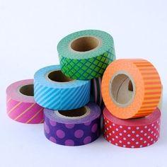 Bright Patterns - Washi Tape Cuties from omiyage.ca