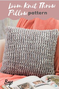 Whip these up to change up your living room decor! This beginner-friendly pattern is perfect for novice and experienced loom knitters! Loom Knitting For Beginners, Round Loom Knitting, Loom Knitting Projects, Loom Knitting Patterns, Knitting Ideas, Yarn Crafts, Fabric Crafts, Afghan Loom, Circular Loom