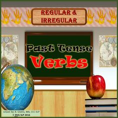 This is a comprehensive lesson that covers both regular and irregular past tense verb forms. Included in this unit are 65 total slides to teach students the rules of regular past tense verbs and the exceptions to the rule for a wide variety of irregular past tense verbs. ***BY REQUEST - 12/19/16 PLEASE NOTE THAT THIS UNIT IS IDENTICAL TO MY WINTER REGULAR AND IRREGULAR PAST TENSE VERB LESSON BUT HAS A NEUTRAL BACKGROUND FOR YEAR ROUND USE.