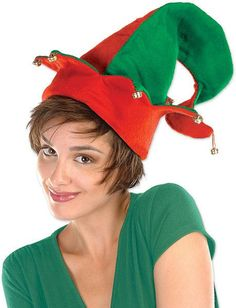 Felt Elf Hat with Bells - One Size Fits Most - 12 Pack Case Pack 12