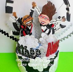 Customized skydiving Wedding or engagement Cake topper/ Look alike | kharygoarts - Wedding on ArtFire