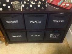 Keep clothes organized and easy to find!  www.mythirtyone.com/deniseturner