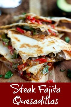quesadilla recipes Steak Fajita Quesadillas are the perfect way to bring Mexican cuisine to your kitchen. Upgrade to ribeye and make an easy fajita seasoning for fabulously tender and flavorful meat. Mexican Dishes, Mexican Food Recipes, Beef Recipes, Dinner Recipes, Cooking Recipes, Leftover Steak Recipes, Lunch Recipes, Dinner Ideas, Recipies
