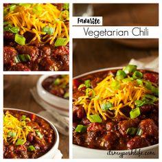 Favorite Vegetarian Chili Recipe on Yummly. @yummly #recipe