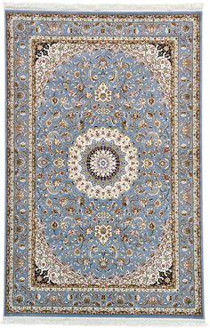 Blue 6' 5 x 9' 11 Isfahan Design Rug | Area Rugs | iRugs UK