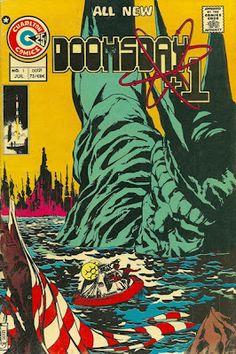 Charlton comics' Doomsday+1 sees the Statue of Liberty in ruins. #CharltonComics #StatueOfLiberty