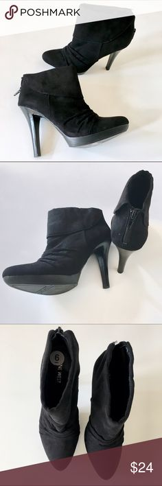 Nine West high heel ankle booties Excellent condition, never worn! No flaws. Add this to a bundle to save 15%. Nine West Shoes Ankle Boots & Booties