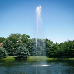Water becomes an inseparable part of human life, because water can provide inner peace. Here, the fountain is the form of the water element existance. Plants With Pink Flowers, Farm Pond, Big Pools, Pond Fountains, Water Element, Formal Gardens, Ornamental Plants, Medicinal Plants, Spring Garden