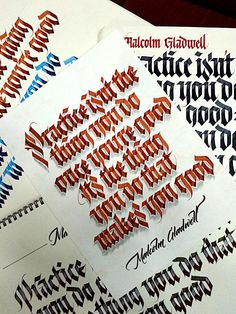 Practice isn't the thing you do once you're good calligraphy by Sachin Shah