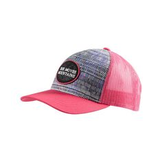 Women's Prana True North Trucker Hat - Azalea Baseball Caps ($25) ❤ liked on Polyvore featuring accessories, hats, pink, pink baseball hat, baseball cap hats, ball cap, adjustable baseball hats and pink hat