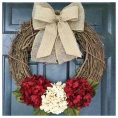 winter wreath, wreath, holiday wreath, valentine wreath, monogram wreath, grapevine, hydrangea wreath, red wreath, chevron burla by AutumnWrenDesigns on Etsy https://www.etsy.com/listing/207664905/winter-wreath-wreath-holiday-wreath