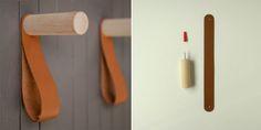Este cabideiro da designer Alice Tacheny encaixa direitinho no assunto. Libera espaço, oferece um modo elegante de colocar ordem e ainda garante um efeito visual original na parede.
