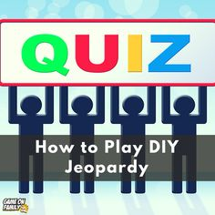 How to Play Homemade Jeopardy Icebreaker Games For Kids, Fun Classroom Games, Cool Games To Play, Fun Games, Family Game Night, Family Games, Ice Breaker Games, Team Building Activities, Teacher Resources