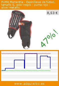 PUMA Momentta - Espinilleras de fútbol, tamaño S, color negro - puma rojo - silver metallic (Deportes). Baja 47%! Precio actual 8,53 €, el precio anterior fue de 16,05 €. http://www.adquisitio.es/puma/momentta-espinilleras-6