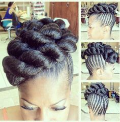 This was created with added hair, nice style for a wedding or special occasion