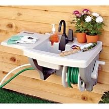 What?... how am i just learning about these??!!!! Backyard Gear Outdoor Sink With Hose and Hose Reel review | buy, shop with friends, sale | Kaboodle