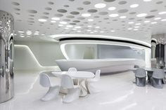 Zaha Hadid, Futuristic Interior, Luxury, Modern Interior, Future Architecture, White Room, Futuristic Furniture, Future Home, Office, Wealth by FuturisticNews.com