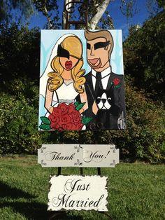 A past client's ADORABLE wedding idea using Twiggy Bridal. IN LOVE!!   ©2013 Twiggy™ Originals, LLC