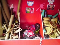 storage for loose materials for play