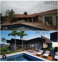 """6,404 curtidas, 50 comentários - Arquitetura Antes & Depois (@arquitetura_antes_depois) no Instagram: """"Sol,piscina combinação perfeita😍Essa transformação está em andamento mas já da para visualizar o…"""""""