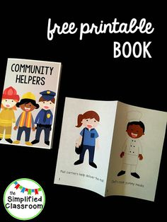 FREE Community Helpers Book -- perfect for K, First Grade, or Second Grade!