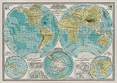 ABSOLUTELY GUSHING OVER THIS. $4. Cavallini Hemisphere Map Wrapping Paper