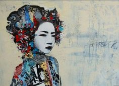 Jaime Rojo & Steven Harrington: UK Street Artist HUSH, Blue Geishas And Graffiti Tags (PHOTOS)