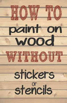 Painted Letters, Painted Signs, Stencil Letters On Wood, Stencil Patterns Letters, Sign Letters, Stencils For Wood Signs, Monogram Signs, Diy Wood Projects, Woodworking Projects