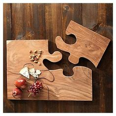 For the couch! Woodworking Projects Diy, Diy Wood Projects, Wood Crafts, Diy And Crafts, Diy Cutting Board, Wood Cutting Boards, Wood Chopping Board, Wooden Puzzles, Wood Art