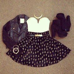 Rocker girl style chic rocker date night outfit inspiration