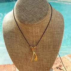 18k gold plated charm statement necklace/choker Fabulous 18k gold plated wish bone charm,  the beauty of it is that you can slide it all the way up to make it as long as 16 inches or slide it all the way down to turn it into a choker. Jewelry Necklaces