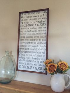 So God Made A Farmer 18x36  wood sign  Great gift for by kspeddler