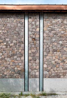 Angelos Organic Olive Oil Mill by Mimarlar ve Han Tümertekin Detail Architecture, Brick Architecture, Contemporary Architecture, Stone Facade, Stone Cladding, Church Interior Design, Types Of Roofing Materials, House Cladding, Villefranche Sur Mer