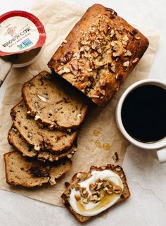 Whole Wheat Maple Yogurt Banana Bread with Pecans and Chocolate — The Daley Plate Easy Chicken Recipes, Real Food Recipes, Simple Recipes, Brown Cow Yogurt, Yogurt Banana Bread, Breakfast Bake, Breakfast Ideas, Muffin Bread, Create A Recipe