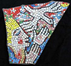 """Relic of Hope and Joy"" contemporary figurative mosaic by Joe Moorman at Riverson Fine Art"
