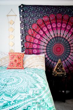 I'm in LOVE with the beauty of this room☽ ✩ Save 25% off all orders with code PINTERESTXO at checkout | Bohemian Bedroom + Home Decor | Mandala Tapestries, Pillows & Gold Moon Star Wall Hanging Decor + Twilights by Lady Scorpio | Shop Now LadyScorpio101.com | @LadyScorpio101 | Photography by Luna Blue @Luna8lue