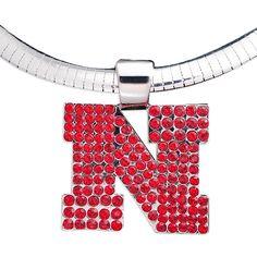 Nebraska Cornhuskers Crystal Logo Pendant