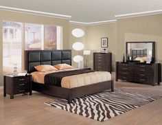 Modern-Wenge-Wood-Bedroom-Set-with-Leather-Headboard.jpg 550×425 pixels