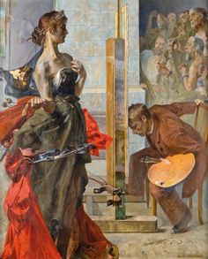 Jacek Malczewski- Vision Young Poland movement of the late 19th-early 20th century.