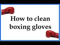 This video will show you how you can clean your boxing gloves. All boxing gloves will start smelling pretty bad when used for a while. Learn how to eliminate the bacteria and germs that grow inside of them.