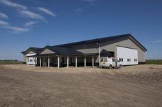 An insulated hybrid farm shop in Gresham, Nebraska.