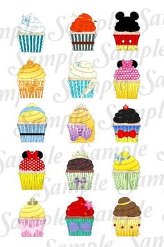 Various inspired cupcake character DIGITAL by SwirlyColorPixels