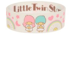Little Twin Stars Rubber Bracelet | Hot Topic ($5.25) ❤ liked on Polyvore featuring jewelry, bracelets, accessories, star jewelry, rubber bangles, star bangle and rubber jewelry