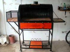 Como hacer un Chulengo o Parrilla Tambor                                                                                                                                                                                 Mais Barbacoa, Biltong, Blacksmithing, Grilling, Roast, Bbq, Iron, Nice Ideas, Steel