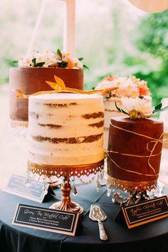 Pretty wedding cake assortment from Cafe Petit Gateau | Shauna Heron Photography