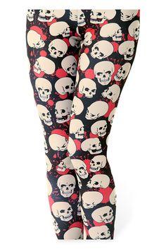 Splatter Skull Leggings - just bought in Museum Sale! Galaxy Leggings, Skull Leggings, Women's Leggings, Leggings Are Not Pants, Tights, Slim Hips, Halloween Leggings, Black Milk Clothing, Little Designs