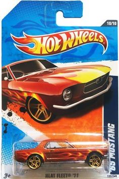 "Hot Wheels 2011 '' '65 MUSTANG"" HEAT FLEET '11 - 10 of 10 - 100/244 Bronze with Yellow Flames on Sides and Opening Hood. Too cool! by Mattel/Hot Wheels. $9.99. This sale is for a Hot Wheels 2011 Heat Fleet #100 65 Mustang"