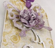 Tags by Tracey Sabella for ScrapThat!/Really Reasonable Ribbon: Close-Up Purple Butterfly