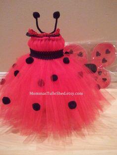 disfraz de coquito Ladybug Tutu Dress